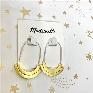 Madewell   Spellbind Minimalist Hoop Earrings NEW